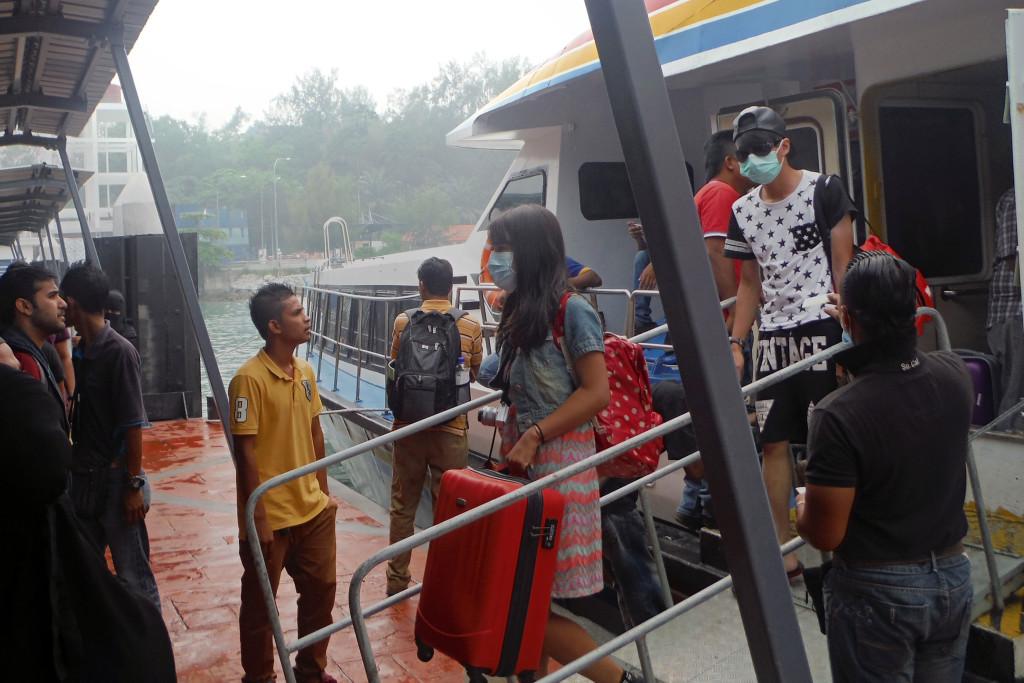 3 Ankunft Fähre in Langkawi