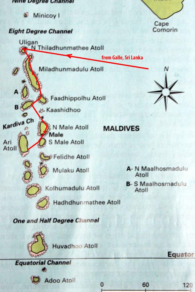 8 Karte Malediven