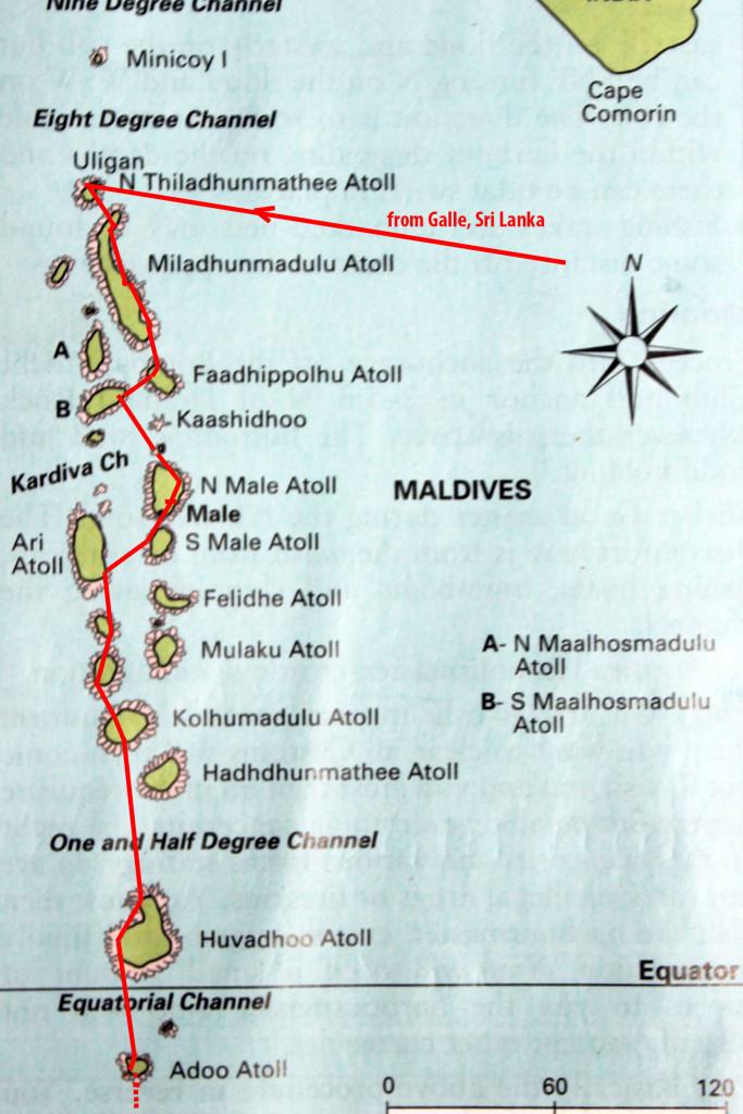 1 Karte Malediven Route