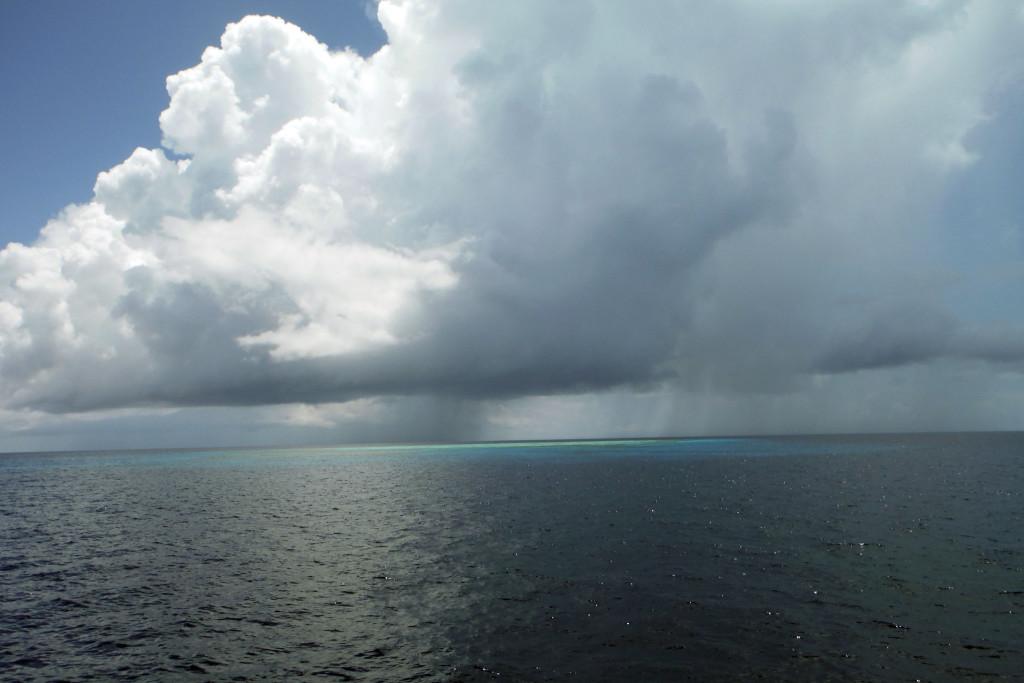17 bei einem der vielen Mini-Atolls